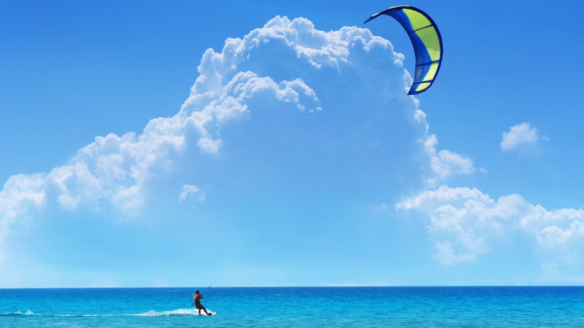 Kitesurfing At Sunset HD desktop wallpaper High Definition