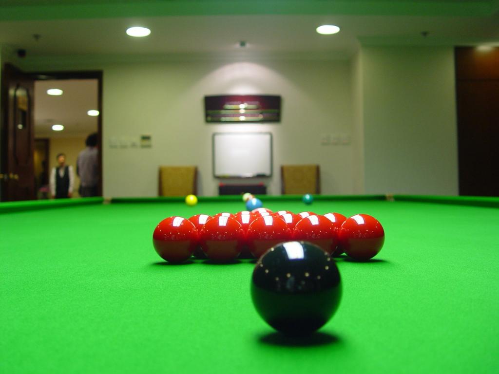 La disposition des billes pour le snooker